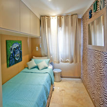 Twin bedroom (with sliding bed) of our Tiki Hutte - Seaview - Premium 2 bedrooms